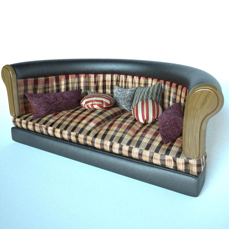 sofa soft leather 3D