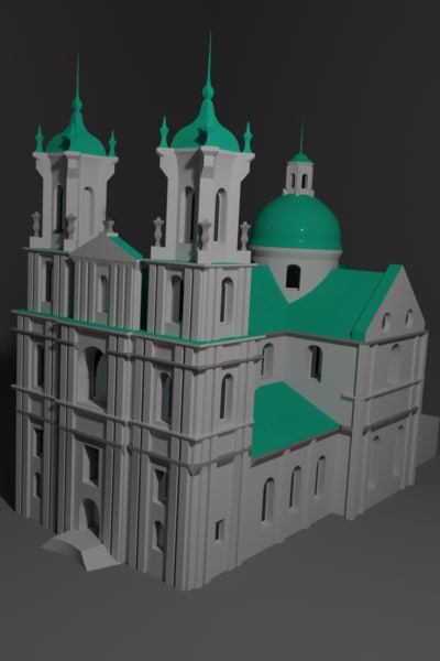 3D farny church landmark