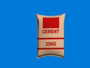 bag cement 3D model