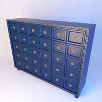 3D model antique chest drawers