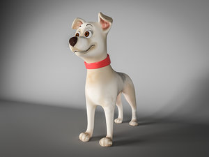 3D low-poly cartoon dog