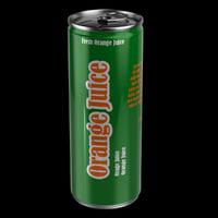 Metal Juice Can