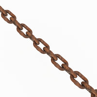 3D old chain