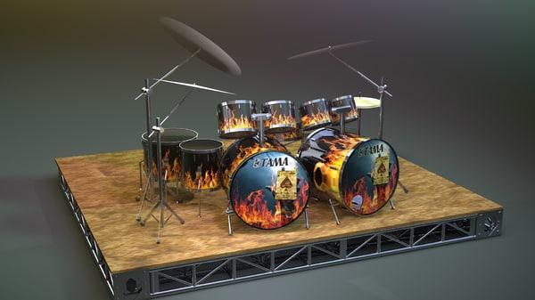 drum kit 3D
