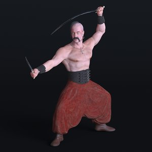 kozak ukrainian 3D model