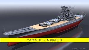 3D model battleship yamato
