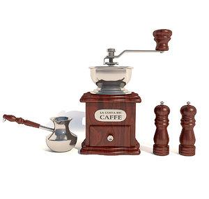 3D manual coffee grinder model