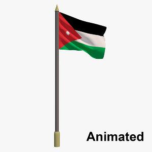3D model flag jordan - animation