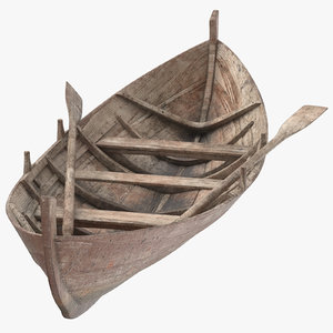 old row boat 3D model
