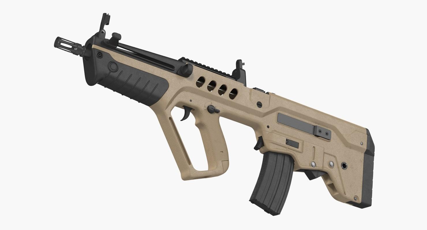 israeli bullpup assault rifle 3D model
