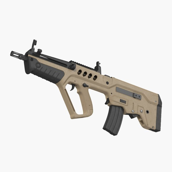 israeli bullpup assault rifle 3D model