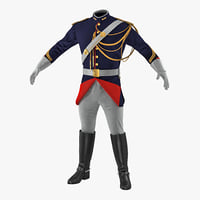 3D french cuirassier officers uniform