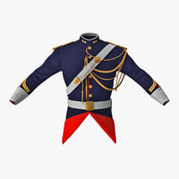 3D french cuirassier officers jacket model