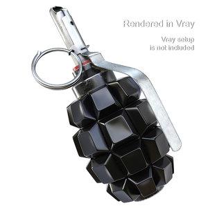 3D grenade pbr f1