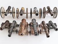 guns 3D model
