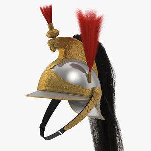 3D french cuirassier helmet