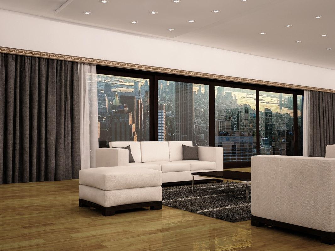3D livingroom sofa