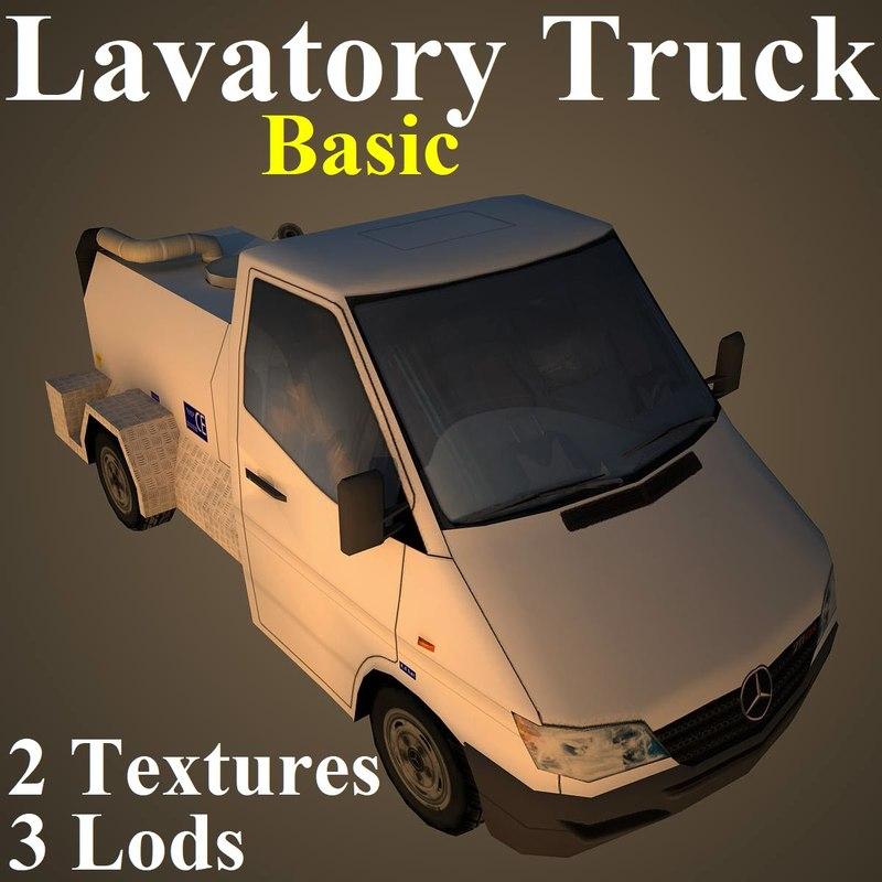lavatory basic 3D model