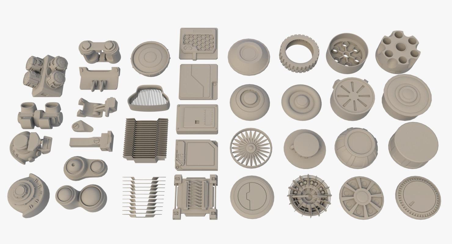 kitbash scifi kit 3D