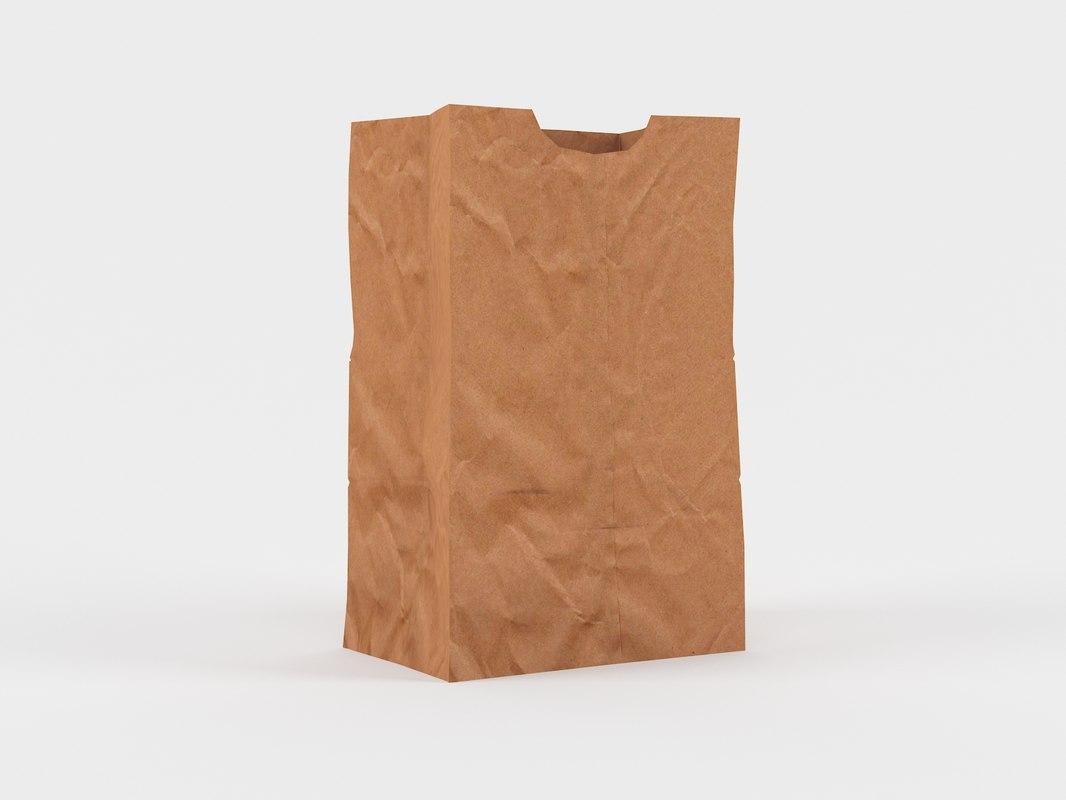 3D paper bag model