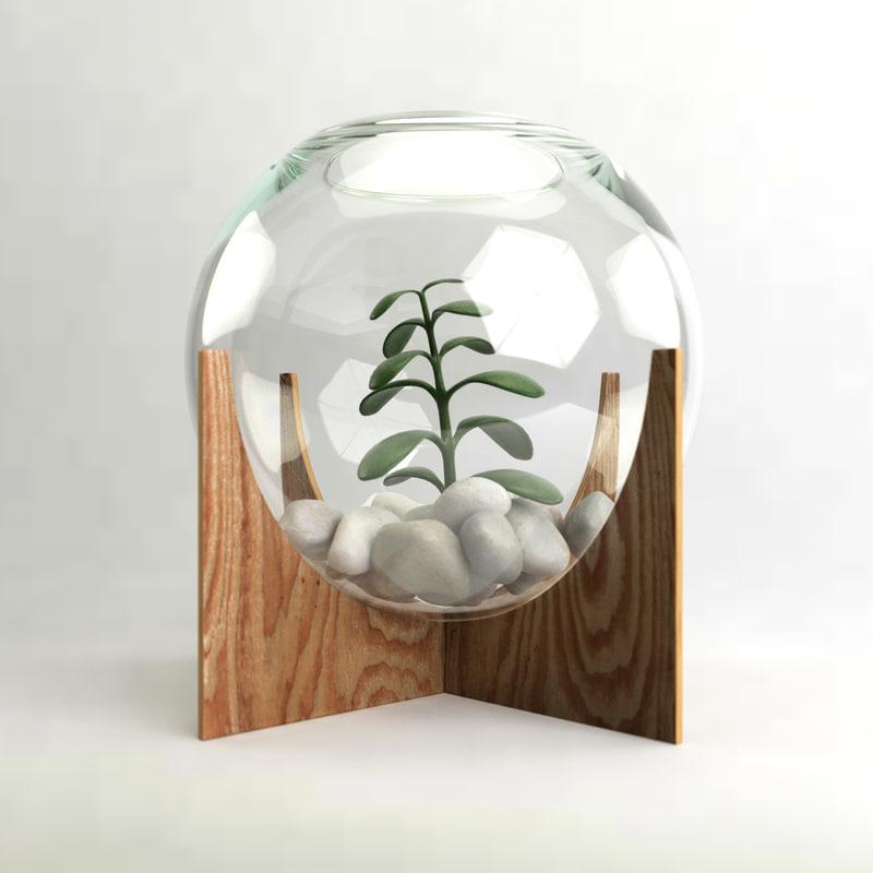cross base terrarium model