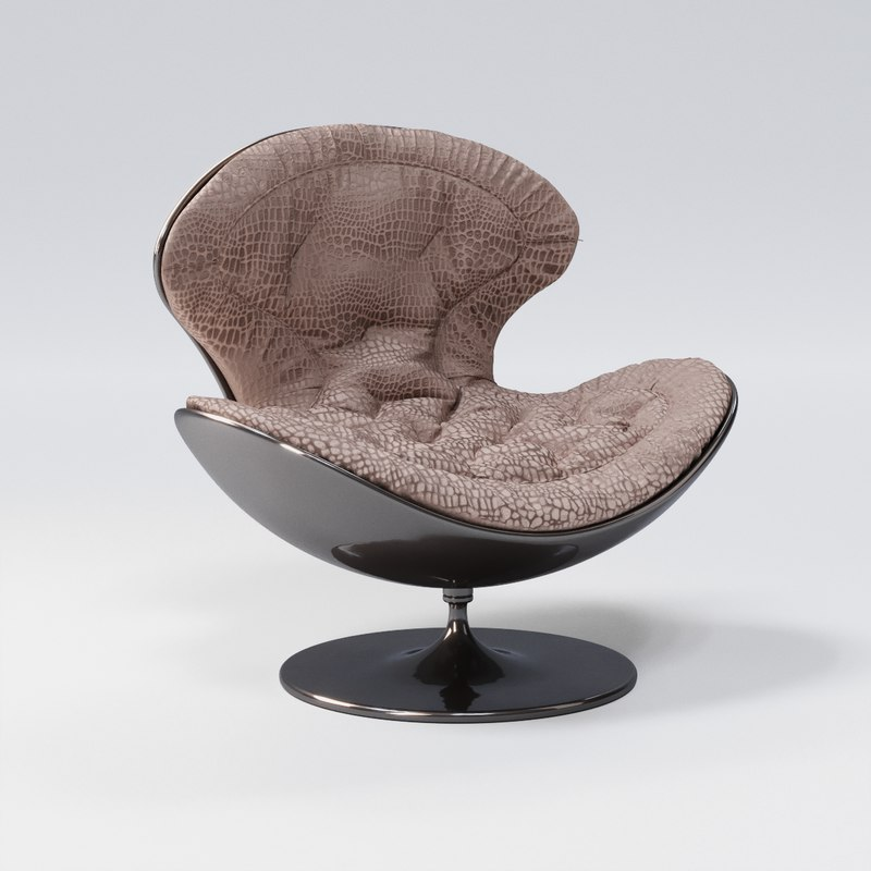 3D giovannetti jetsons armchair suede leather