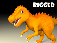 t-rex cartoon 3D