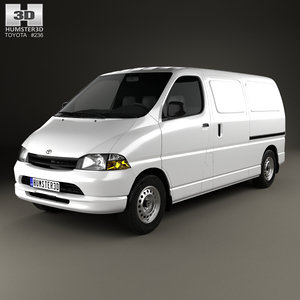 toyota hiace 1995 3D model