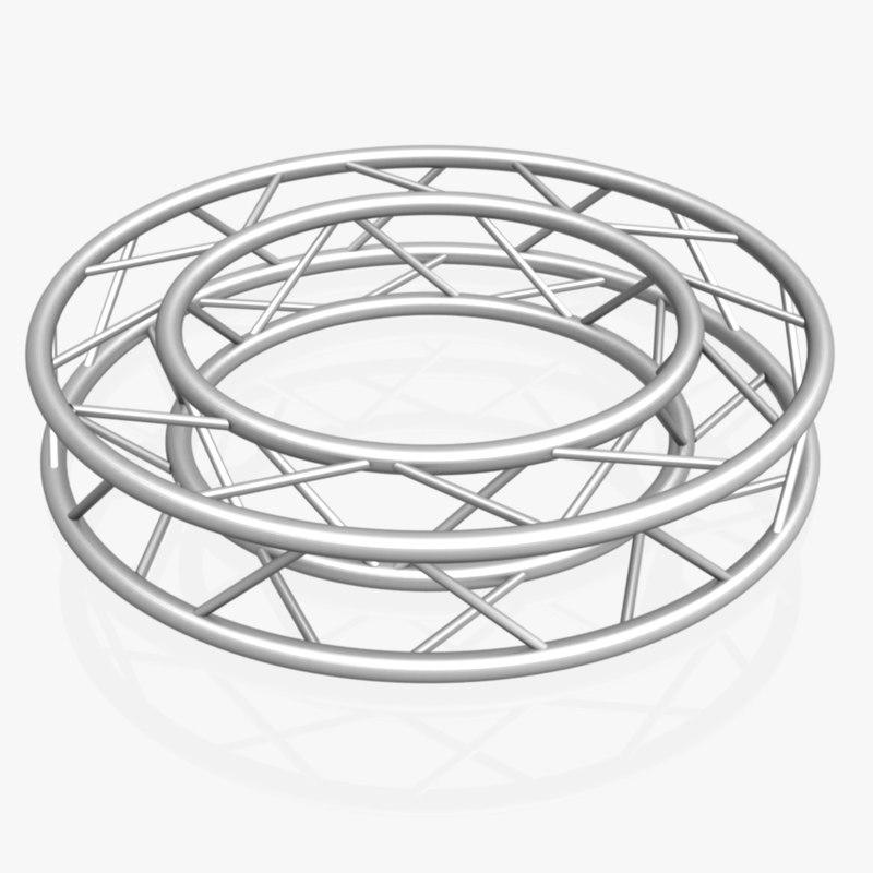 circle square truss diameter 3D