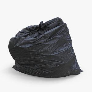 3D bag trash model
