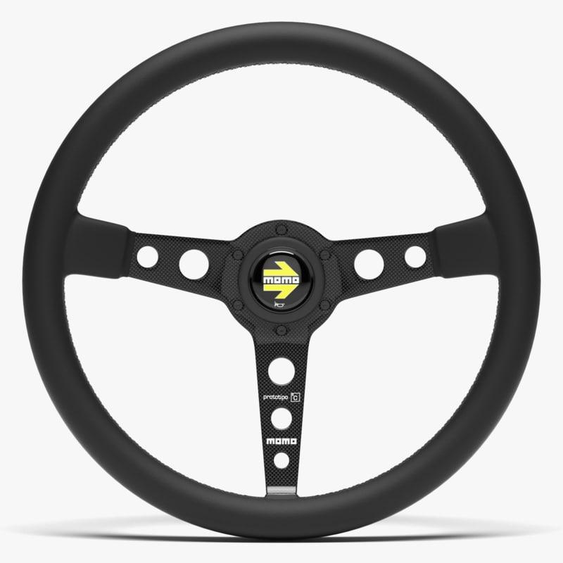 3D momo prototipo steering wheel model