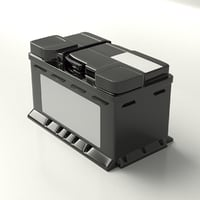 3D car battery accumulator model