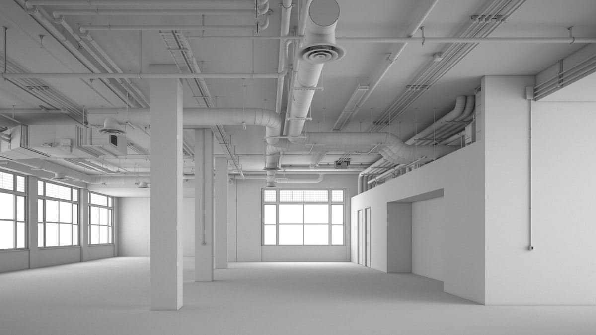 3D office industrial architectural interior model