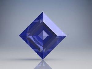 perfect square sapphire diablo 3D model