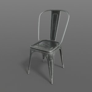 3D realistic tolix chair -