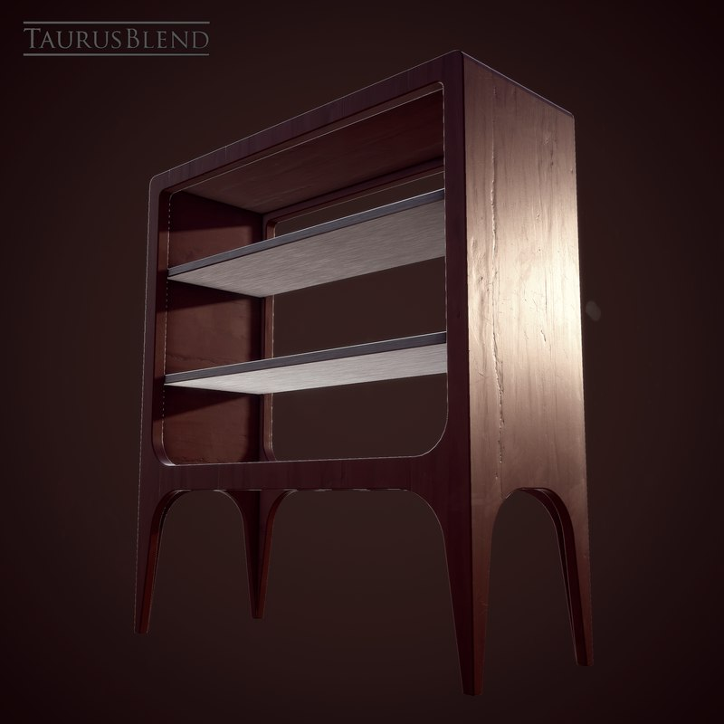 wooden shelf model