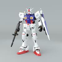 3D gundam gun model