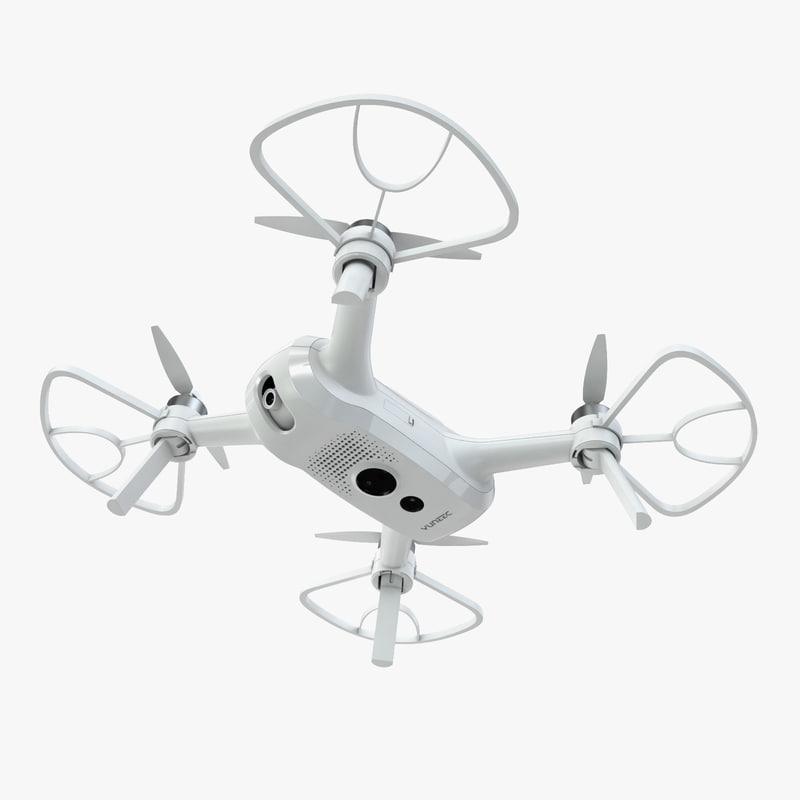 yuneec breeze 4k drone 3D model