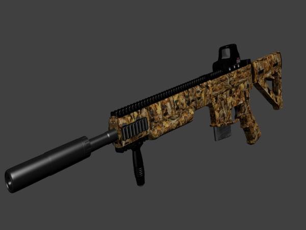 3D daniel defense ambush firearm model
