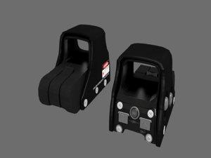 3D model eotech holographic sight
