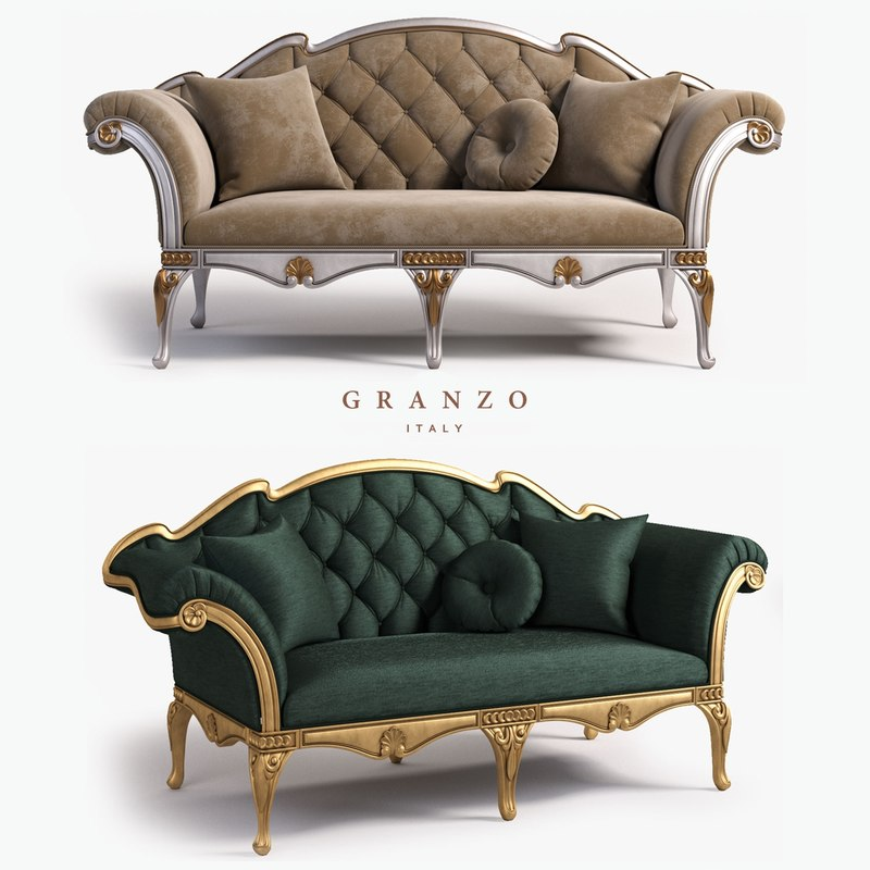 3D bijoux sofa model