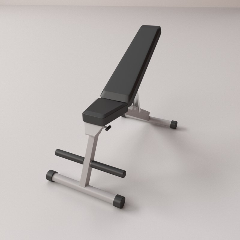 exercise bench 3D model