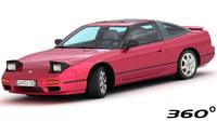 3D model nissan 240sx se 1994