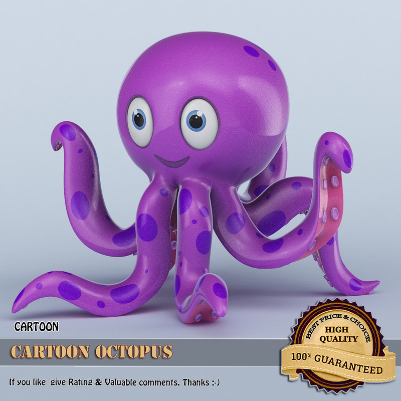 cartoon octopus 3D