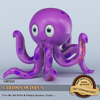 Cartoon Octopus 3D