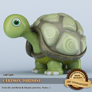 3D cartoon tortoise