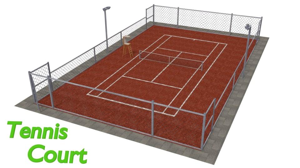 tennis court model