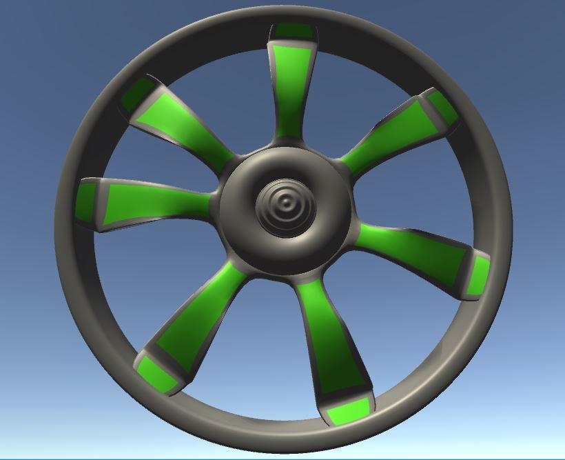3D car rims