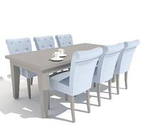 little france dining table 3D model