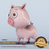 3D model cartoon pig animation